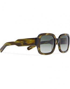Солнечные очки FLATLIST. Цвет: темно-зеленый