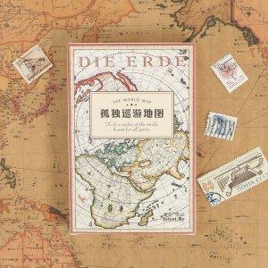 Открытка с узором карты мира 30шт SHEIN. Цвет: многоцветный