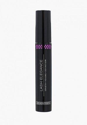 Тушь для ресниц Seventeen LASH ELEGANCE с эффектом накладных т.01 черный, 13 мл. Цвет: черный