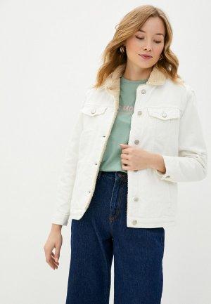 Куртка джинсовая Trendyol. Цвет: белый