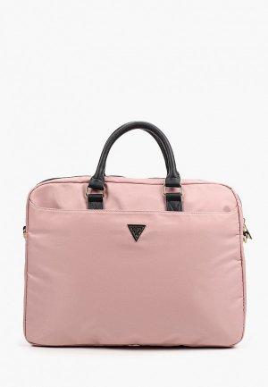 Сумка Guess для ноутбуков 15. Цвет: розовый