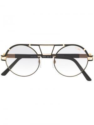 Круглые солнцезащитные очки-авиаторы Cazal. Цвет: черный