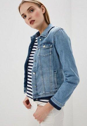 Куртка джинсовая Pennyblack. Цвет: синий