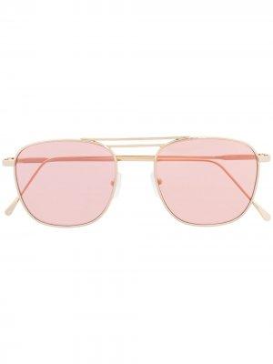 Солнцезащитные очки-авиаторы Eleventy. Цвет: золотистый