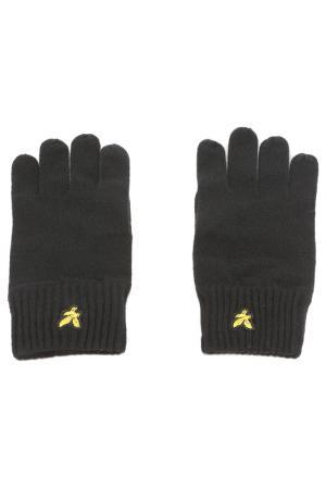 Перчатки Lyle & Scott. Цвет: черный