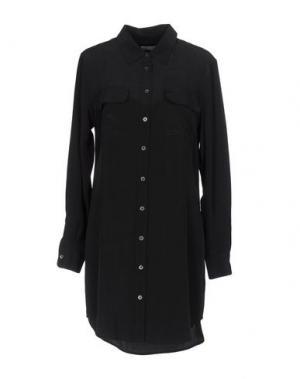 Короткое платье EQUIPMENT. Цвет: стальной серый