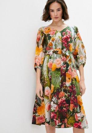 Платье Akris Punto. Цвет: разноцветный