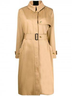 Тренч с полосками Givenchy. Цвет: коричневый