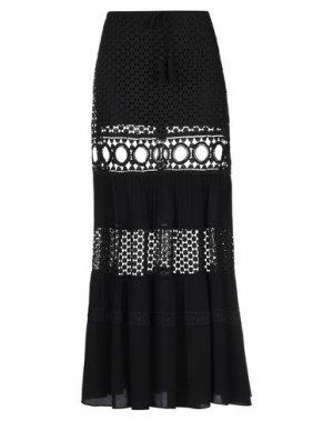 Длинная юбка HALE BOB. Цвет: черный