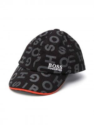 Кепка с логотипом Boss Kids. Цвет: черный