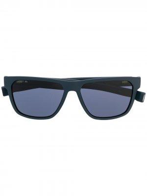 Солнцезащитные очки в квадратной оправе Lacoste. Цвет: синий