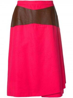 Юбка с контрастными деталями Gianfranco Ferré Pre-Owned. Цвет: розовый