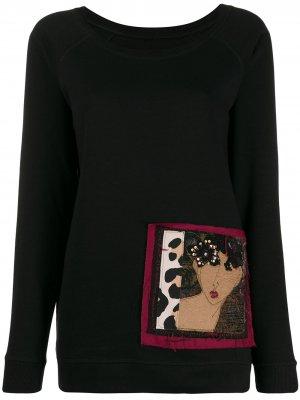 Толстовка с вышивкой Antonio Marras. Цвет: черный