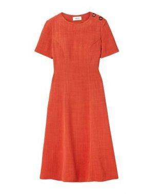 Платье длиной 3/4 ARIAS. Цвет: ржаво-коричневый