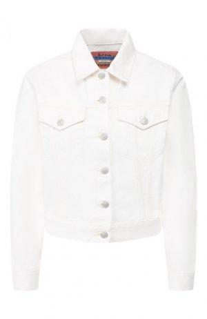 Джинсовая куртка Acne Studios. Цвет: бежевый