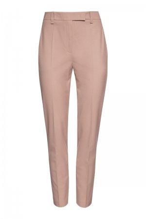 Зауженные базовые брюки VASSA&Co. Цвет: розовый