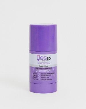 Натуральный дезодорант с углем и экстрактом лаванды Yes To Detox-Бесцветный