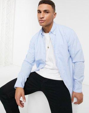 Рубашка в мелкую клетку с длинными рукавами -Синий J Crew