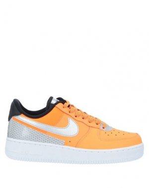 Кеды и кроссовки NIKE. Цвет: оранжевый