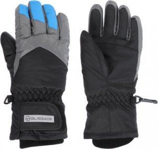 Перчатки для мальчиков , размер 6 Glissade. Цвет: черный