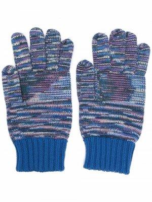 Трикотажные перчатки Multicolour Missoni. Цвет: синий