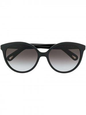 Массивные солнцезащитные очки в оправе кошачий глаз Chloé Eyewear. Цвет: черный