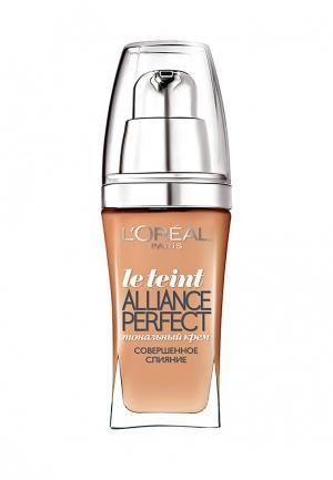 Тональный крем LOreal Paris L'Oreal Alliance Perfect, Совершенное слияние, выравнивающий и увлажняющий, оттенок N4, 30 мл. Цвет: бежевый