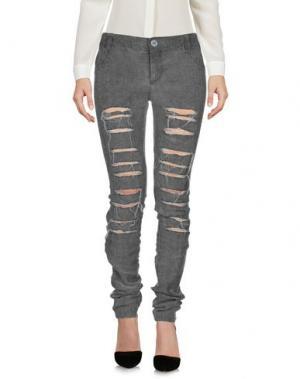 Повседневные брюки 10SEI0OTTO. Цвет: свинцово-серый