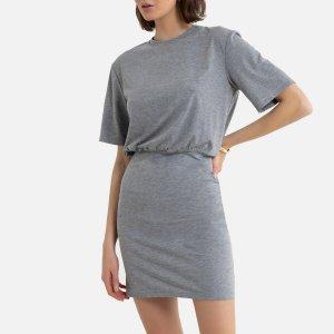 Платье-футболка LaRedoute. Цвет: черный