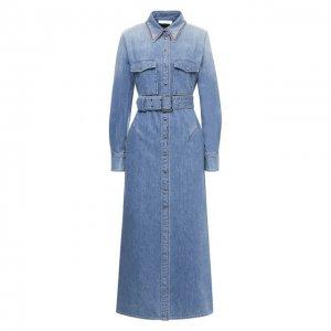 Джинсовое платье Chloé. Цвет: синий