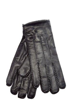 Перчатки ручной работы из кожи ягненка и кашемира MORESCHI. Цвет: черный