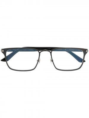 Солнцезащитные очки C de Cartier в прямоугольной оправе Eyewear. Цвет: черный