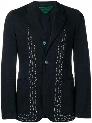 Блейзер 2000-х годов с декоративной строчкой Comme Des Garçons Pre-Owned. Цвет: синий