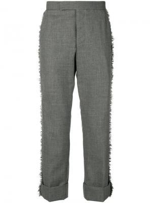 Классические брюки с необработанными краями Thom Browne