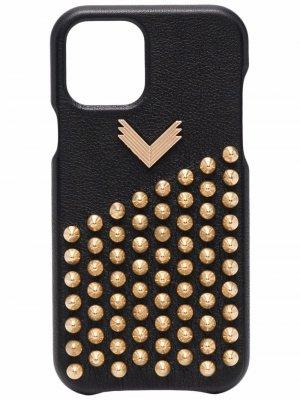 Декорированный чехол для iPhone 12 Pro Manokhi. Цвет: черный