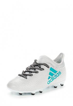 Бутсы adidas X 17.3 FG J. Цвет: белый