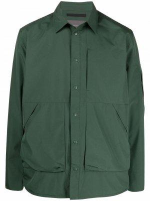 Куртка-рубашка Gore-Tex Infinium Norse Projects. Цвет: зеленый