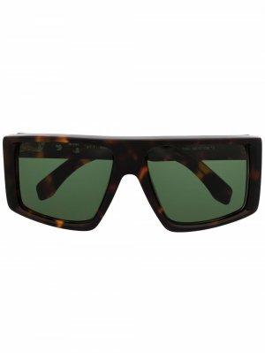 Массивные солнцезащитные очки Alps Off-White. Цвет: черный