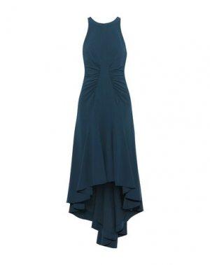 Платье миди HALSTON. Цвет: грифельно-синий