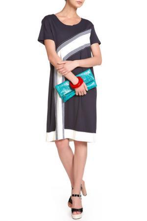 Платье Alkis. Цвет: синий