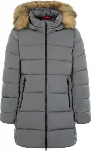 Куртка утепленная для девочек , размер 128 Reima. Цвет: серый