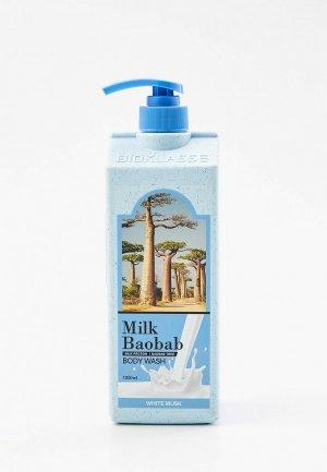Гель для душа Milk Baobab OWM 1000 мл. Цвет: прозрачный