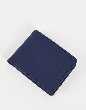 Синий складной бумажник 1660-Голубой Rains