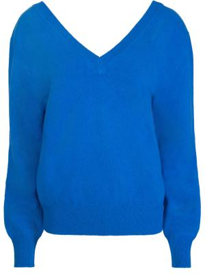 Шерстяной пуловер Victoria Beckham. Цвет: синий