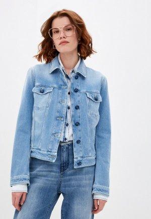 Куртка джинсовая Jacob Cohen. Цвет: голубой