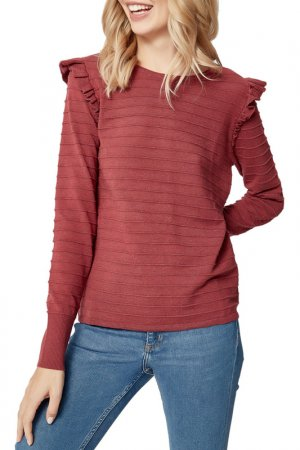 Пуловер MANODE. Цвет: красный