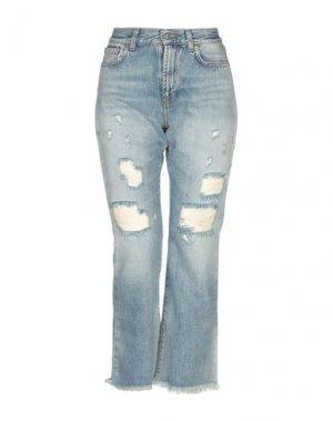 Джинсовые брюки-капри BLUE DE BLEU. Цвет: синий