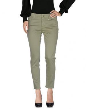Повседневные брюки ANNA RACHELE. Цвет: зеленый-милитари
