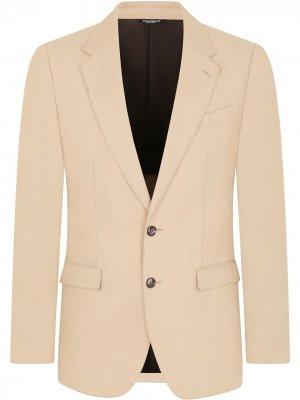 Костюм с однобортным пиджаком Dolce & Gabbana. Цвет: нейтральные цвета