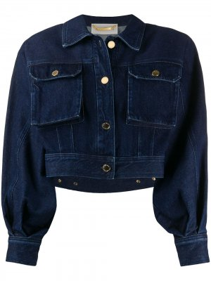Джинсовая куртка с объемными рукавами Alberta Ferretti. Цвет: синий